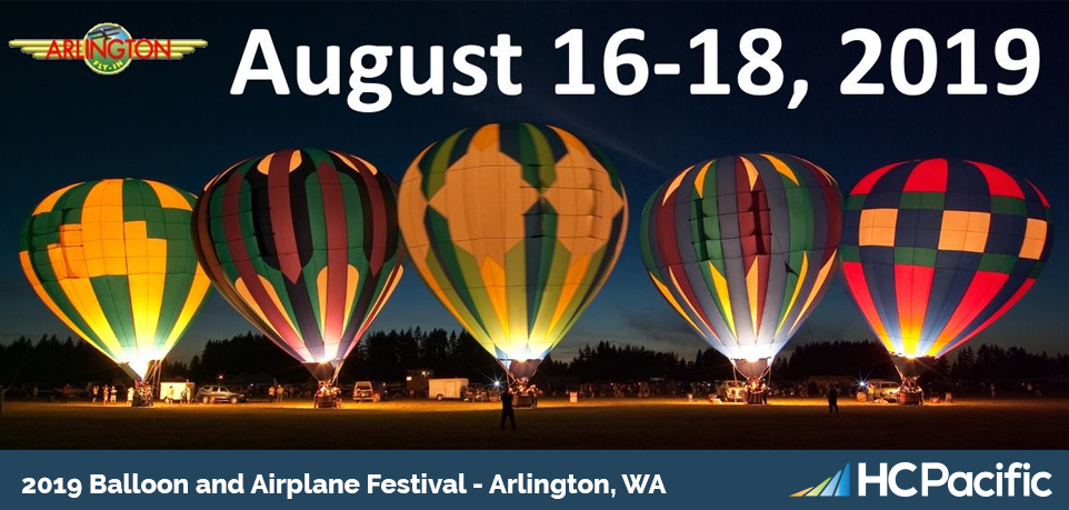 Visit HC Pacific August 16th-18th At The 51st Annual Arlington Fly-In!