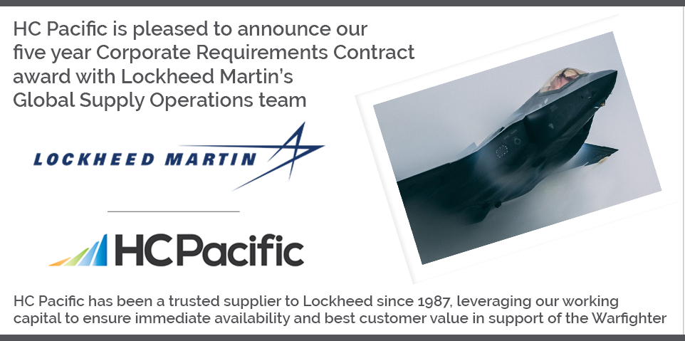HC Pacific And Lockheed Martin Announce New Agreement
